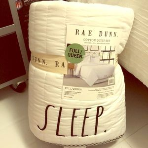 COPY - Rae Dunn COTTON QUILT SET 3 pieces FULL/Qu…